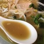 70579470 - エマルジョンされた豚骨醤油スープ