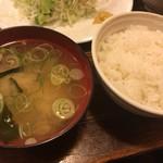 キッチンTiKi - ライス&味噌汁