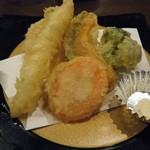 古都 - お昼天ざるバラちらし定食(天ぷら)
