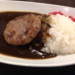 熟成ステーキ 博多肉八 - ハンバーグカレー(1,058円)