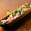 生ハムとゴロゴロ野菜のサラダ~どこにでもあるシーザードレッシングで~