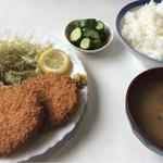 するが台食堂 - 料理写真:メンチかつ定食\700(17-07)