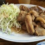三幸軒 - 料理写真:焼肉定食 焼肉アップ 豚バラ肉です