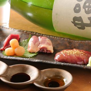 おすすめの日本酒を月替わりでご提供