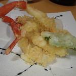 車屋・源氏 - ズワイ蟹の天ぷら盛