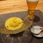 粋・丸新 - 玉蜀黍の豆腐。