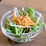 徳川ホルモンセンター - 店長定食のサラダ