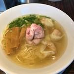 らーめん本竈 - 塩味のえびわんたん麺