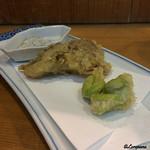 幸手 門間 ふくろう - 一寸豆と舞茸の天ぷら