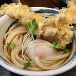 讃岐うどん・千幸 - 料理写真:とり天温玉ぶっかけ 750円