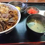 すき焼 加茂川 - 日替わり牛丼
