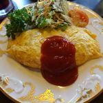 キネマ座 - 料理写真:昔懐かしオムライスセット 1200円