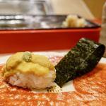 金沢まいもん寿司 珠姫 - 塩水うに 680円(税別) 文句なしです。