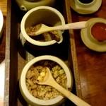 寧々家 - チョップドサラダのトッピング、ピーナッツ、アマニ、グラノーラ