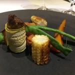 ル ジャルダン グルマン - メニューに書いてない一品の温野菜