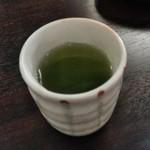 四季 - [ドリンク] 〆の緑茶