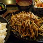 酒彩肴房 たまり場 - 料理写真:鉄板野菜炒め定食(2011/03/06撮影)