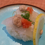 70600984 - 回転寿司しんせんや(愛媛県松山市春美町)はぎ 260円