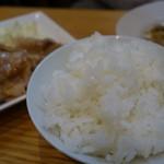 あぺたいと - (2017/5月)生姜焼きセットのライス