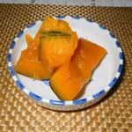 橋本食堂 - 小鉢(かぼちゃの煮つけ)