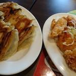 バーミヤン - W餃子+鶏天