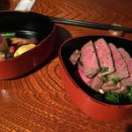 士心 サムライカフェ&バー - 近江牛の味噌漬け焼き