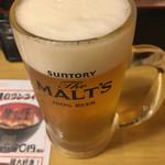 70609505 - きっちりサントリーモルツ生ビール☆★★☆安くnice
