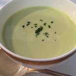 神戸フレンチ - グリーンピースの冷製スープ