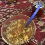 プリバディ - スープ     ランチにはスープと飲み物が。    爽やかにスパイスが効いてますよ