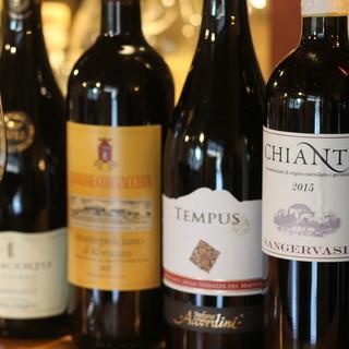日替りで様々な味を楽しめる個性豊かなイタリアワイン