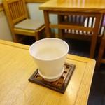 昇月庵 - 雲海蕎麦湯割り