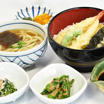 味喰笑 - 天丼ミニうどんセット1,150円(税込)単品950円(税込)
