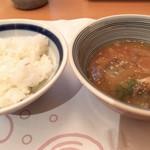 和・菜・肴 千とせ家 - 仕上げの冷や汁