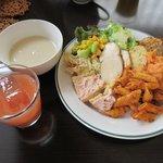 アクアフィオーレ - バイキング(前菜+ドリンク+スープ)2017.07.27