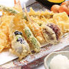 鎌倉野菜天ぷらと海老フライ定食