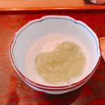 蔵精 - 湯葉 そら豆のソース