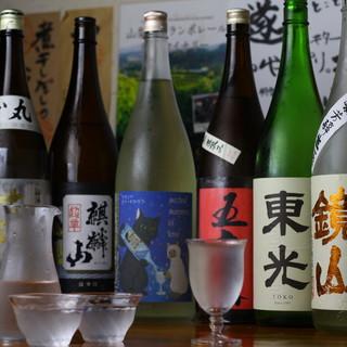 厳選日本酒が500円~♪蔵元と取り組むこだわりの旨酒