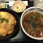 浅野屋 - ランチセット(かつ丼) ¥900-