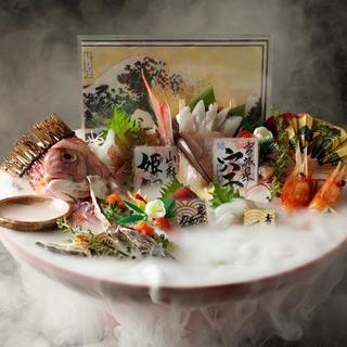 当店自慢◎極上鮮魚7種盛り『二代目玉手箱~竜宮の祝杯~』