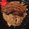 そばじん - 料理写真:角煮焼めし@930円 見た目にインパクトもあるけど、焼めしがうま〜い♡♡♡