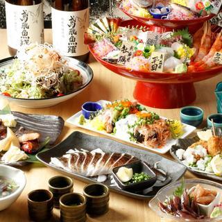 料理長厳選の宴会コースは4,500円~◎