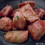 七輪焼肉 安安 - 国産牛ぶつ切り