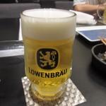 みゆき庵 - ドイツフェアだったんで乾杯はレーベンブロイの生です。