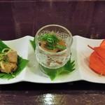 アジト - 料理写真:前菜三種