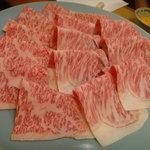 7066496 - 特選黒毛和牛のすき焼き