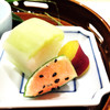 みつ林 - 料理写真:スイカに見立てた明太子のゼリー寄せ