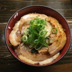 天下ご麺 - 焼・焼豚飯 300円