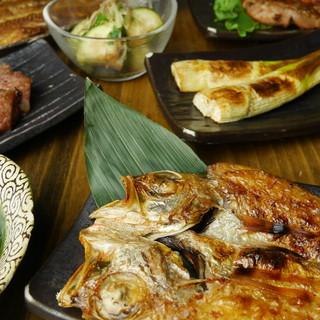 旬の贅沢にふんだんに。極上干物と鮮魚をリーズナブルな価格で