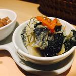 神保町 明治屋セカンド - 菜の花にしん(アテ3種盛)
