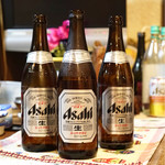 はまさか - 瓶ビール3本頂きました。